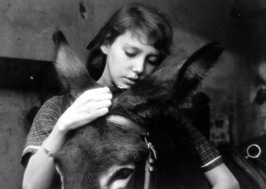 Anne Wiazemsky as Marie in Robert Bresson's AU HASARD BALTHAZAR