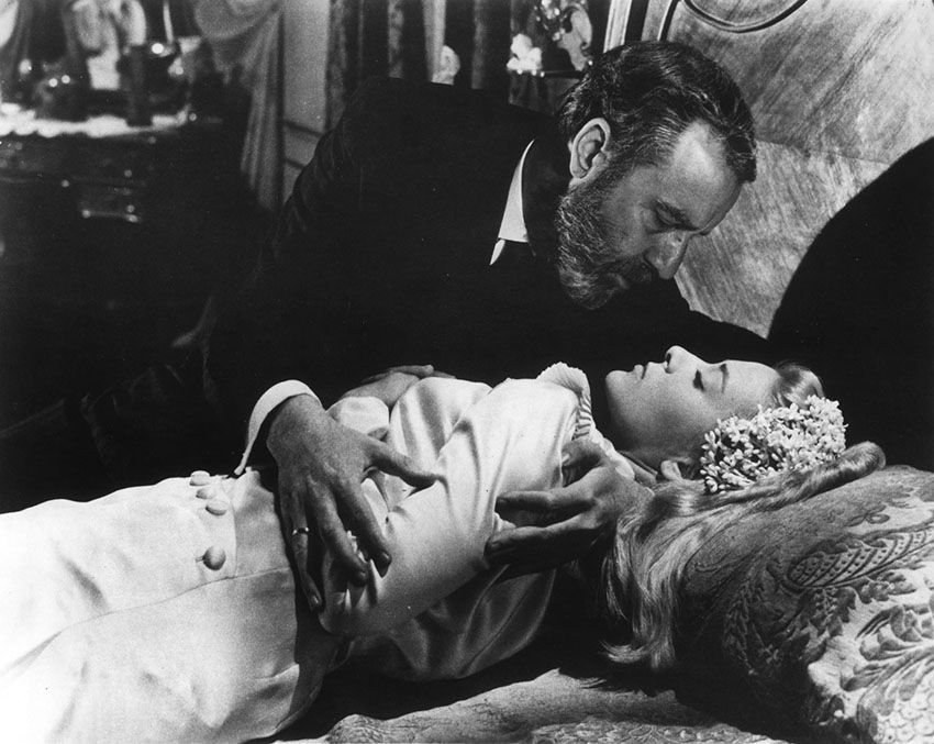 Francisco Rabal and Silvia Pinal in Luis Buñuel's VIRIDIANA.