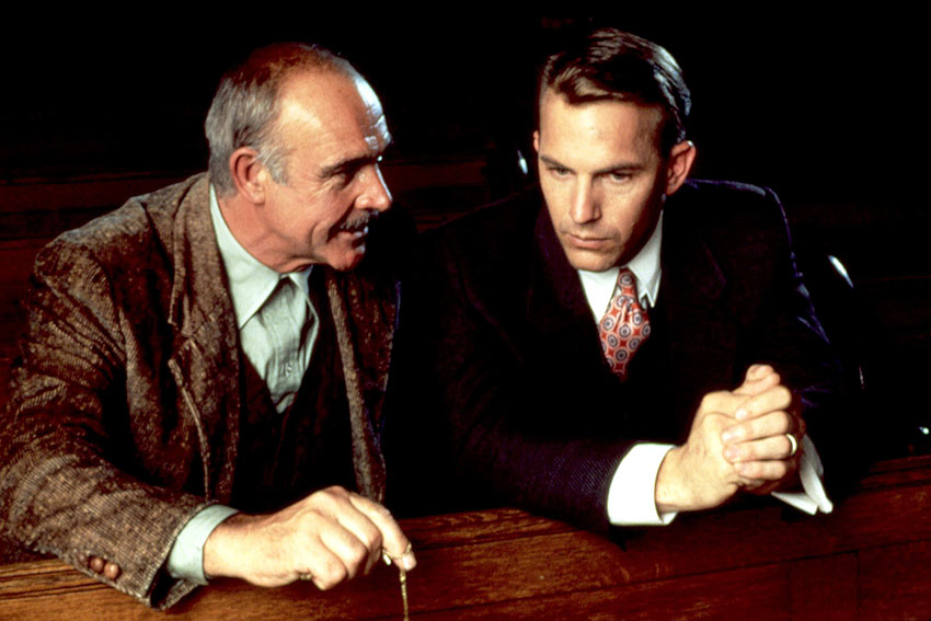 THE UNTOUCHABLES, Sean Connery, Kevin Costner, 1987. (c) Paramount Pictures/ Courtesy: Everett Colle